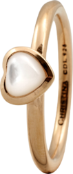 Кільце CC 800-1.3.B/61 Heart mother of pearl goldpl - Дека