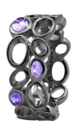 Кольцо CC 800-3.10.D/55 Big Amethyst Bubbles black - Дека