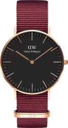 Часы Daniel Wellington DW00100273 Classic 36 Roselyn RG Black - Дека
